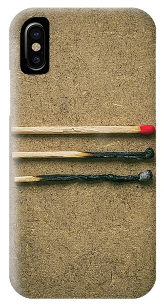 Flammable iPhone Case - Burnt Matches by Carlos Caetano
