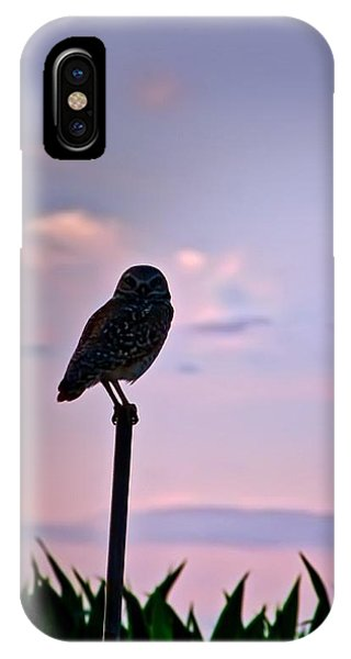 Burrowing Owl On A Stick IPhone Case