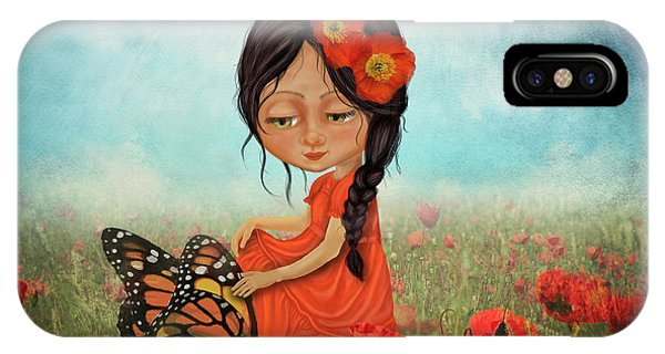 Poppies iPhone Case - Butterfly Whisperer by Laura Ostrowski