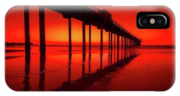 Scripps Pier iPhone Case - California Dreaming by Edward Fielding