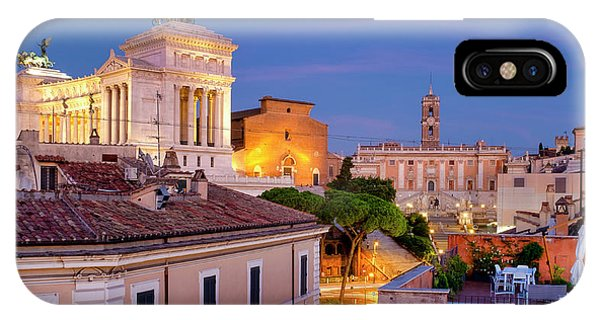 IPhone Case featuring the photograph Capitoline Hill by Fabrizio Troiani