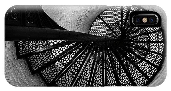Ironwork iPhone Case - Charlotte Genesee Lighthouse by Diane Diederich