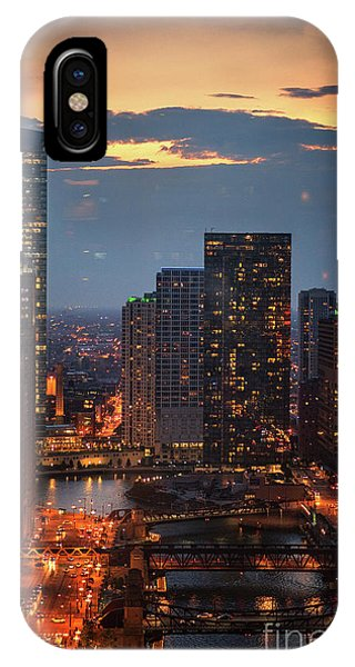 Chicago River iPhone Case - Chicago Sunset by Bruno Passigatti