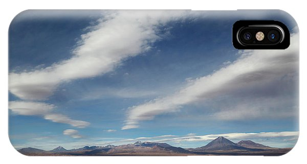 Middle Of Nowhere iPhone Case - Clouds Over The Atacama Desert Chile by James Brunker