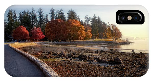 Colorful Autumn Foliage At Stanley Park IPhone Case