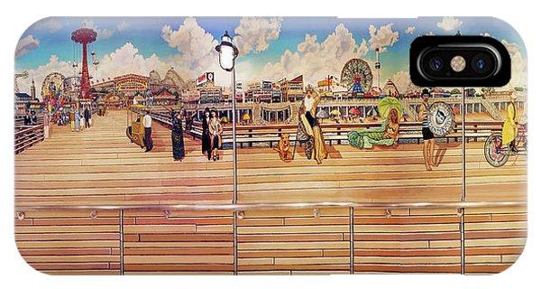 Coney Island Boardwalk Towel Version IPhone Case