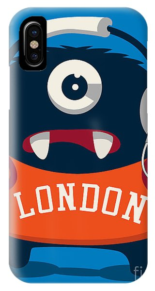 Students iPhone Case - Cool Monster Vector Character Design by Braingraph