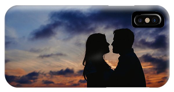 Couple With Cloud Sky Backlight IPhone Case