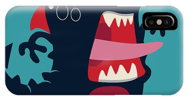 Cool iPhone Case - Cute Monster Vector by Braingraph