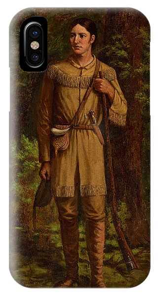 The Alamo iPhone Case - Davy Crockett by William Henry Huddle