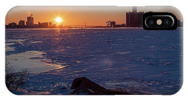 Detroit River IPhone Case