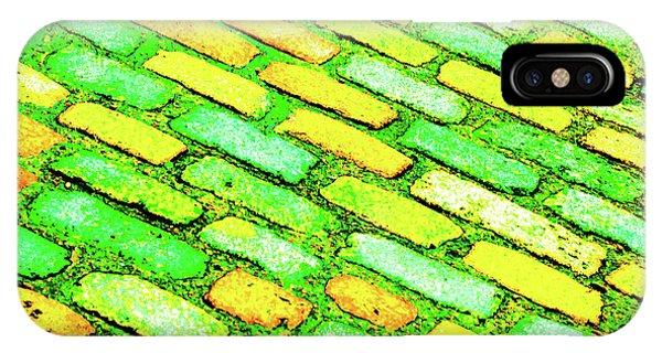 Diagonal Street Cobbles IPhone Case