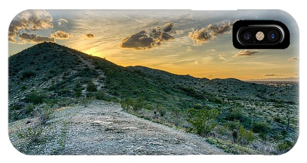 Dramatic Mountain Sunset  IPhone Case