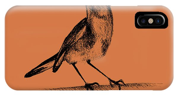 Graphite iPhone Case - Drawing Of Hummingbird. Illustration by Oana unciuleanu
