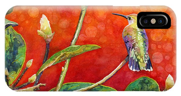 Hummingbirds iPhone Case - Dreamy Hummer by Hailey E Herrera