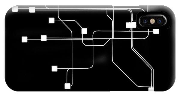 Irish iPhone Case - Dublin Black Subway Map by Naxart Studio