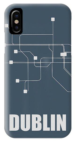 Irish iPhone Case - Dublin Subway Map by Naxart Studio