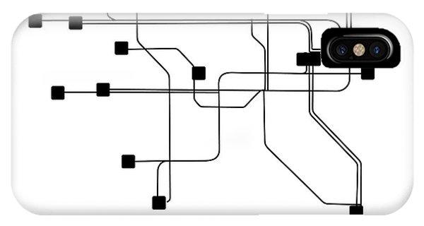 Irish iPhone Case - Dublin White Subway Map by Naxart Studio