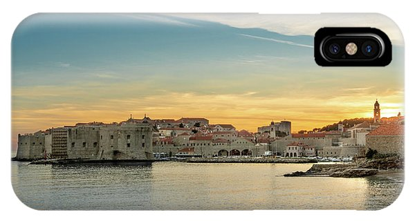 IPhone Case featuring the photograph Dubrovnik Old Town At Sunset by Milan Ljubisavljevic