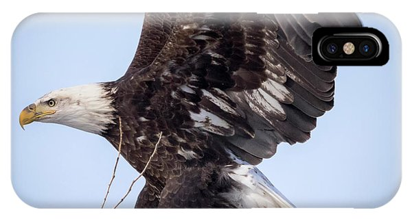 IPhone Case featuring the photograph Eagle Coming In For A Landing by Ricky L Jones