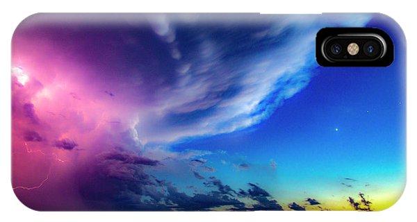 Nebraskasc iPhone Case - Epic Nebraska Lightning 007 by NebraskaSC