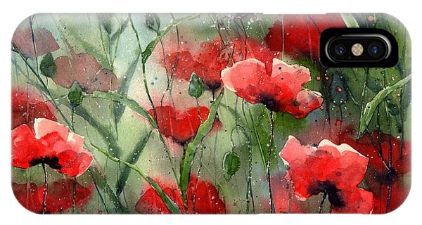 Fort iPhone Case - Everything About Poppies by Suzann's Art