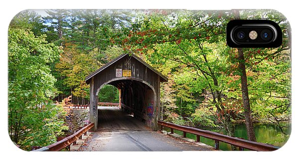 Fall Colors Over The Babs Covered Bridge IPhone Case