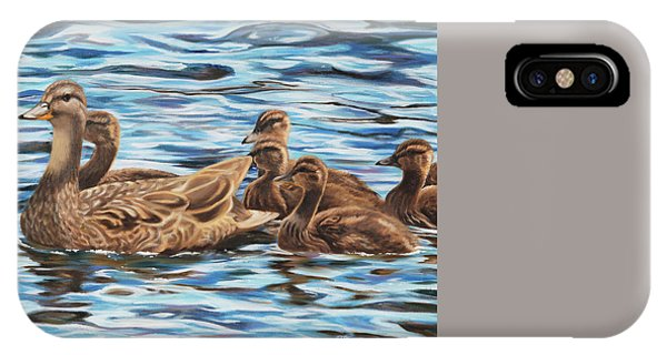 IPhone Case featuring the painting Mallards by Tammy Taylor