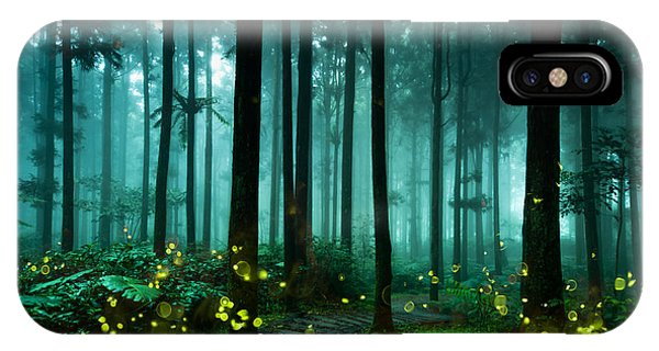 Deciduous iPhone Case - Firefly by Htu