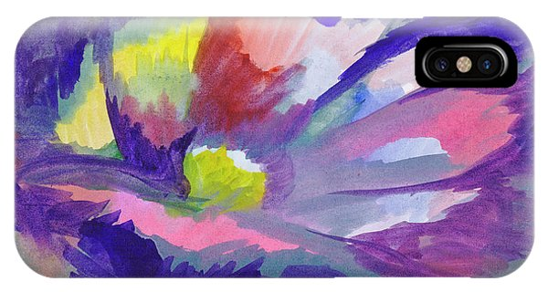 IPhone Case featuring the painting Flowering Abstract 3 by Dobrotsvet Art