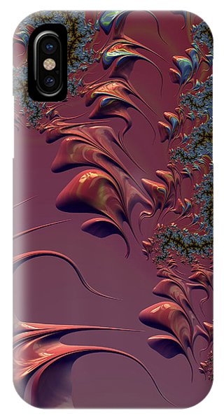 Fractal Playground In Pink IPhone Case