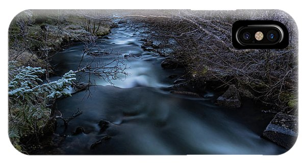 Frozen River And Winter In Forest. Long Exposure With Nd Filter IPhone Case