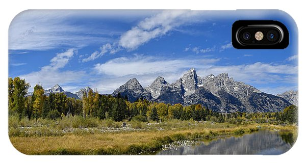 IPhone Case featuring the photograph Grand Tetons by Don and Bonnie Fink