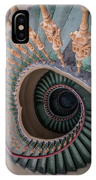 iPhone Case - Green Spiral Staircase by Jaroslaw Blaminsky