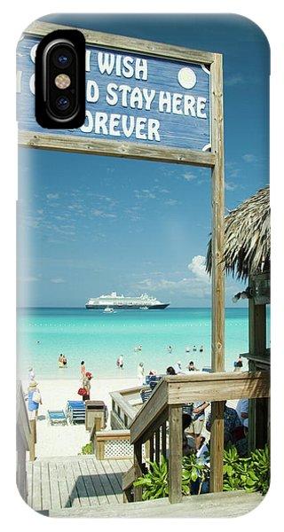 Half Moon iPhone Case - Half Moon Cay, Bahamas Beach Scene by David Smith