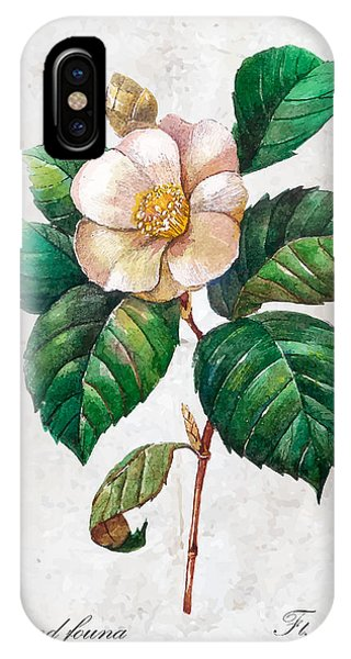 Peony iPhone Case - Hand Drawn Botanical Illustration In by Yana Fefelova