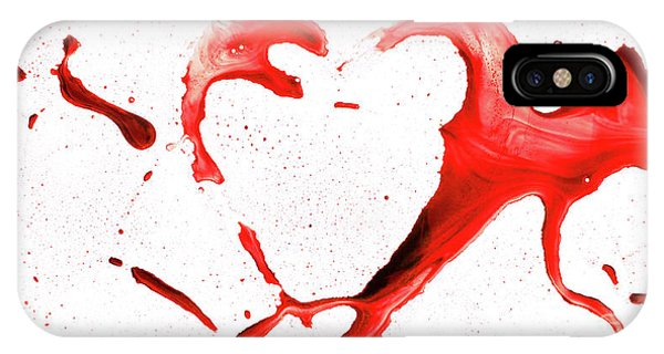 iPhone Case - Heart Shape From Splaches And Blobs by Michal Boubin