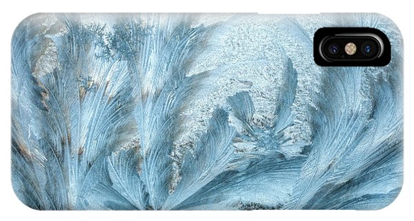 Frost Glass iPhone Case - Ice Design On Car Windshield by Darrell Gulin
