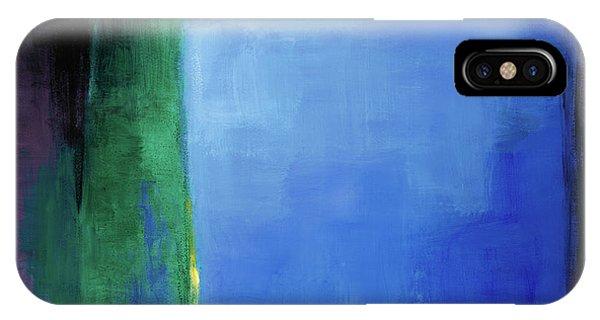 Dark Violet iPhone Case - Into Blue I by Lanie Loreth