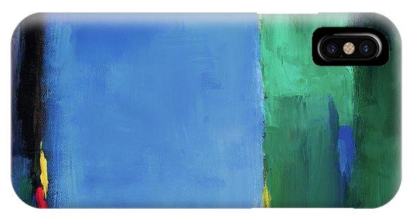 Dark Violet iPhone Case - Into Blue II by Lanie Loreth