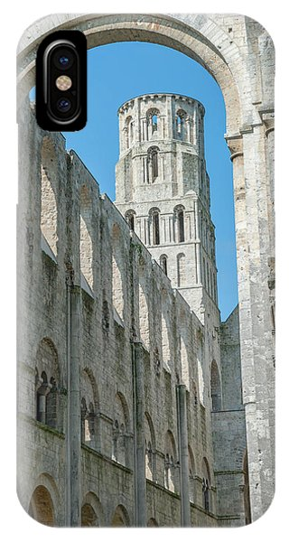 Jumieges Abbey, Jumieges, Normandy Phone Case by Lisa S. Engelbrecht