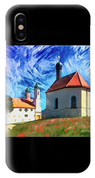 IPhone Case featuring the digital art Kalvarienberg by Edmund Nagele