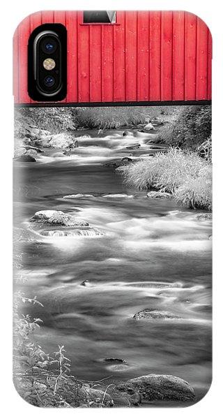 iPhone Case - Kent Falls Covered Bridge by Susan Candelario