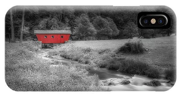 iPhone Case - Kent Waterfalls Covered Bridge by Susan Candelario