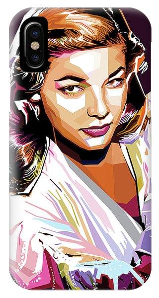 Lauren Bacall IPhone Case