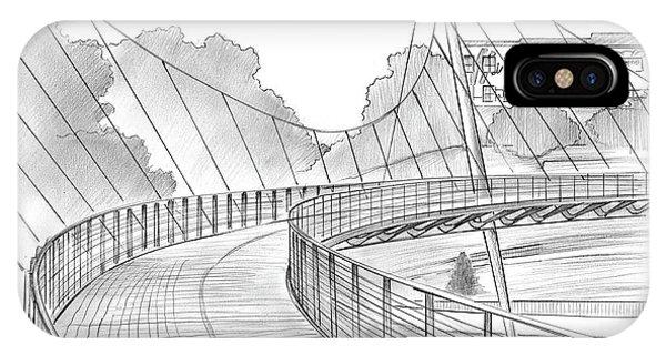 Graphite iPhone Case - Liberty Bridge by Greg Joens