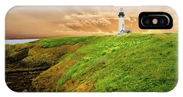 Lighthouse On  Yaquina Head  IPhone Case