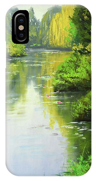 Creek iPhone Case - lily Pond reflections by Graham Gercken
