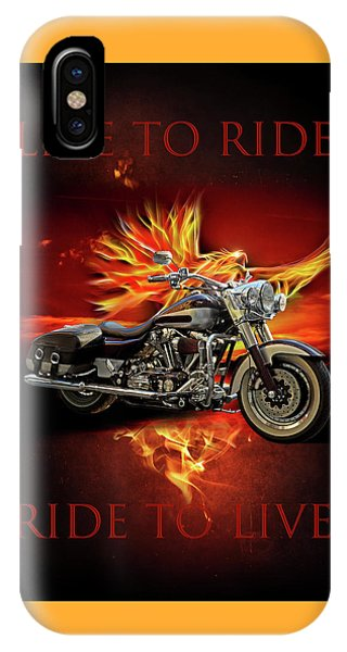 Light Speed iPhone Case - Live To Ride, Ride To Live by Debra and Dave Vanderlaan