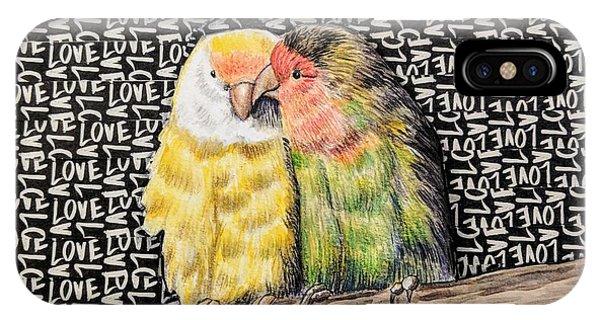 iPhone Case - Love Birds by Rebecca Rodriguez